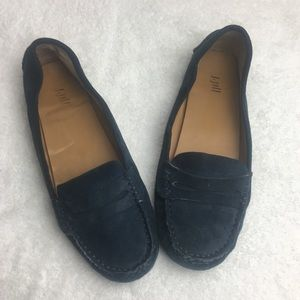 J. Jill Blue Suede Leather Driving Loafers